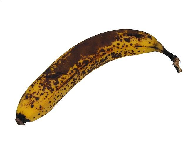 tečkovaný banán